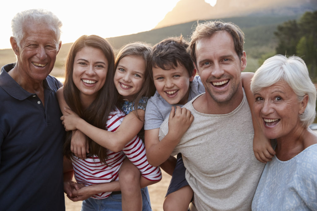 Image shows family members of all ages benefit from Acupuncture