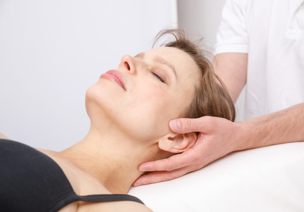 Image of woman receiving Cranial Osteopathy