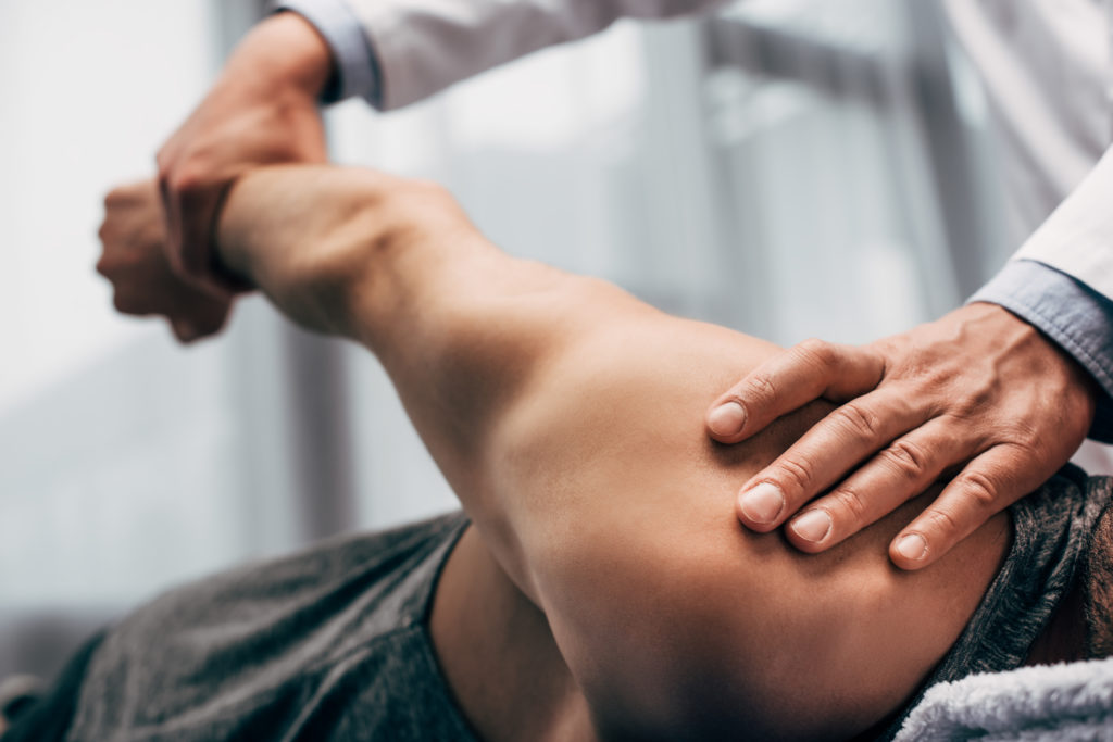 Image of a man's shoulder benefitting from Osteopathy in Grey Lynn
